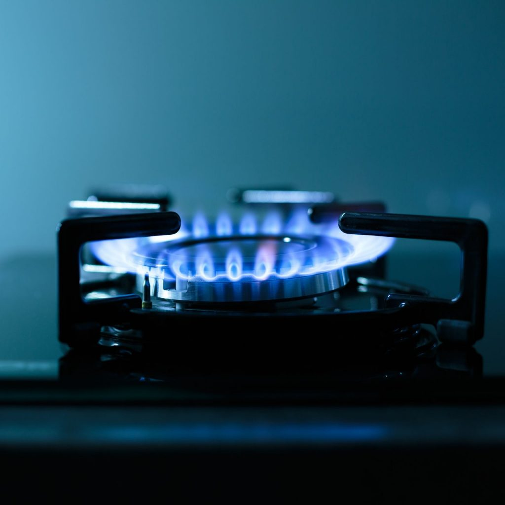 burner running smoothly on gas