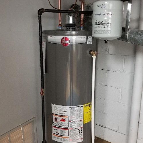 A Picture of a Rheem Water Heater.