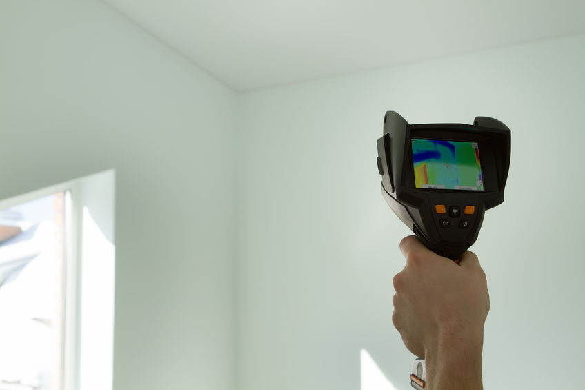 A Picture of a Hand Holding Thermal Imager.
