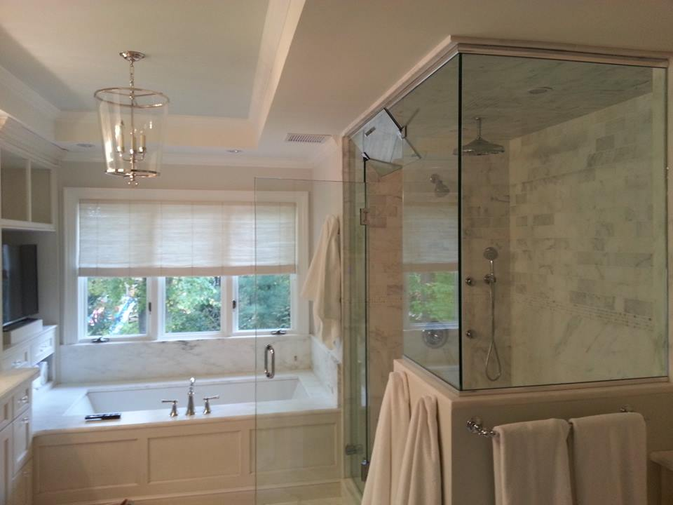 Picture of a Really High-End Master Bathroom.