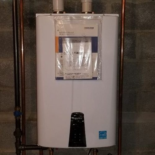 A Picture of a Navien Tankless Water Heater.