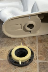 A Picture of a New Toilet Installation.