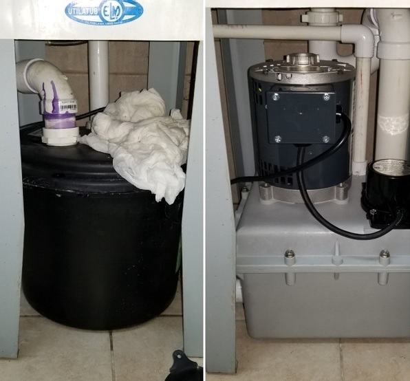 Two Pictures of Plumbing Pumps.